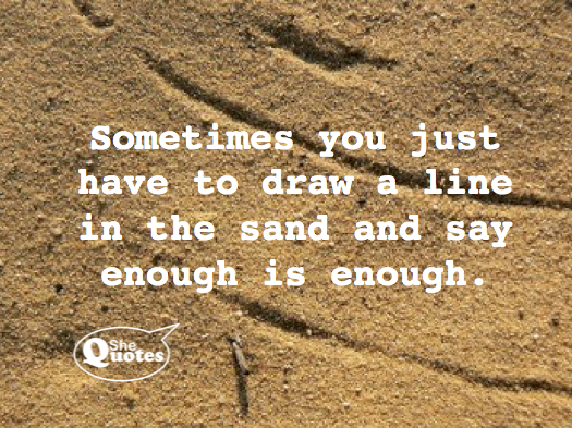 A Line in the Sand(Revised)