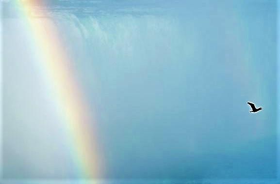 A Rainbow Spark, (aTanka)